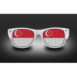 Lunettes de supporter - Singapour- Drapeau