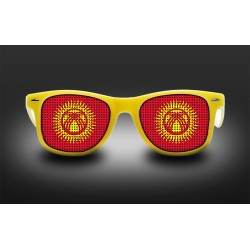 Supporter eyeglasses - Kyrgyzstan - flag