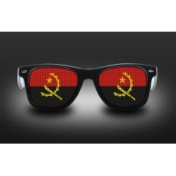 Supporter eyeglasses - Angola - flag