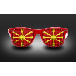 Supporter eyeglasses - Macedonia - flag