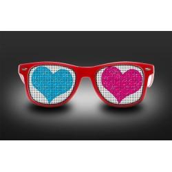 Lunettes coeur - 2 couleurs