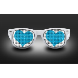 Eyeglasses blue heart