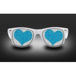 Lunettes coeur bleu