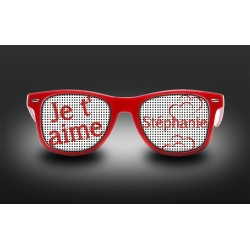"Eyeglasses ""Je t'aime"" customizable"