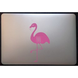 Pink flamingo with plums sticker