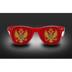 Supporter eyeglasses - Monténégro - flag