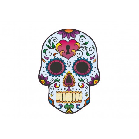 Mexican skull sticker