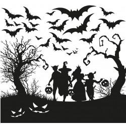 Halloween dans les bois - Sticker