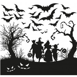 Halloween in the woods - Sticker