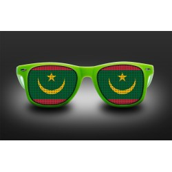 Supporter eyeglasses - Mauritania - flag