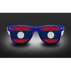 Supporter eyeglasses - Laos - flag