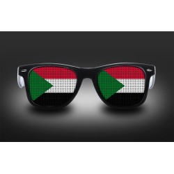 Supporter eyeglasses - Sudan - flag