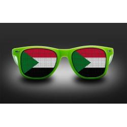 Lunettes de supporter - Soudan - Drapeau