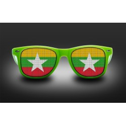 Supporter eyeglasses - Myanmar - flag