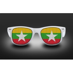 Lunettes de supporter - Birmanie - Drapeau