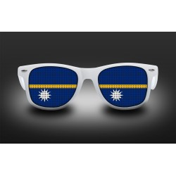 Supporter eyeglasses - Nauru - flag