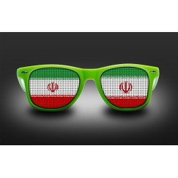 Supporter eyeglasses - Iran - flag