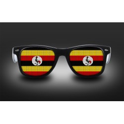 Lunettes de supporter - Ouganda - Drapeau