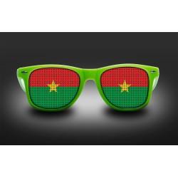 Lunettes de supporter - Burkina Faso - Drapeau