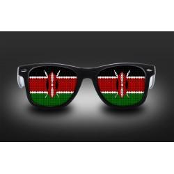 Lunettes de supporter - Kenya - Drapeau