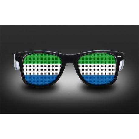Lunettes de supporter - Sierra Leone - Drapeau